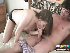 Sexy cora sucks off 25 guys