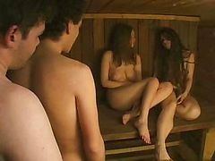 Russian, Sauna, German sauna retro porn