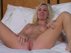 Blonde, Instruction, Masturbation, Jerking, Jerk off instructions from busty milf
